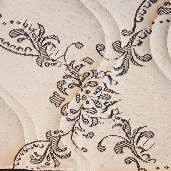 Стёганая матрасная ткань чёрно-белая