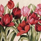Авторский гобелен Тюльпаны