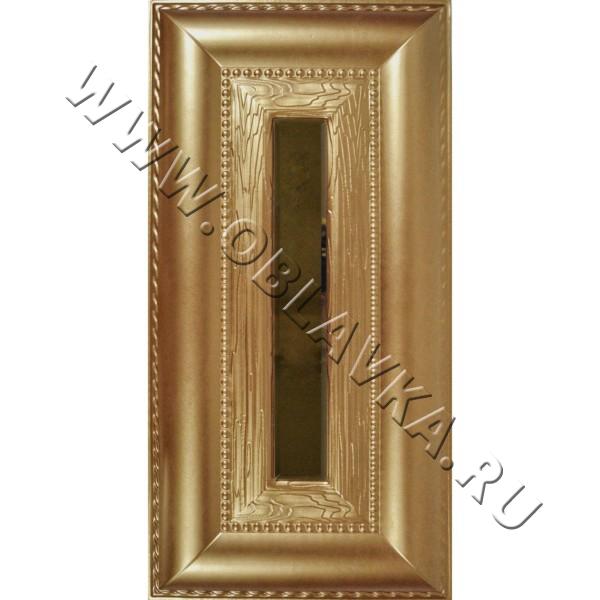 3D стеновая панель Ницца цвет золотисто-бронзовый