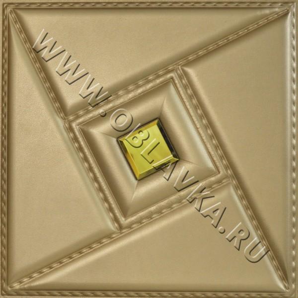 3D стеновая панель Шанхай цвет золото