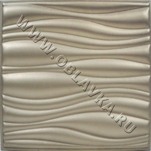 3D стеновая панель Базель цвет серебро