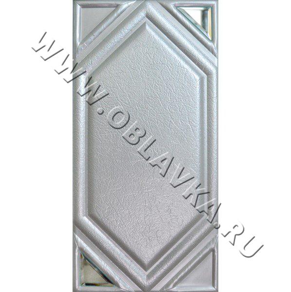 3D стеновая панель Феникс цвет серебро