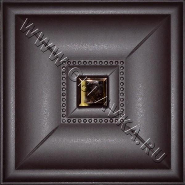 3D стеновая панель Каир цвет чёрный шоколад