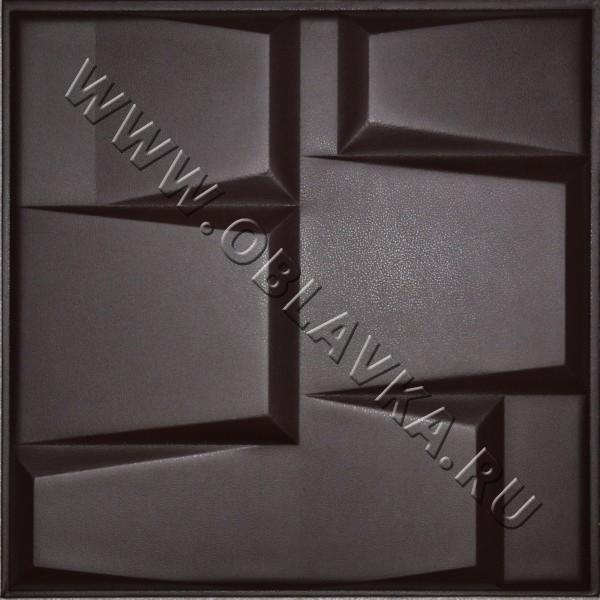 3D стеновая панель Лондон цвет чёрный шоколад