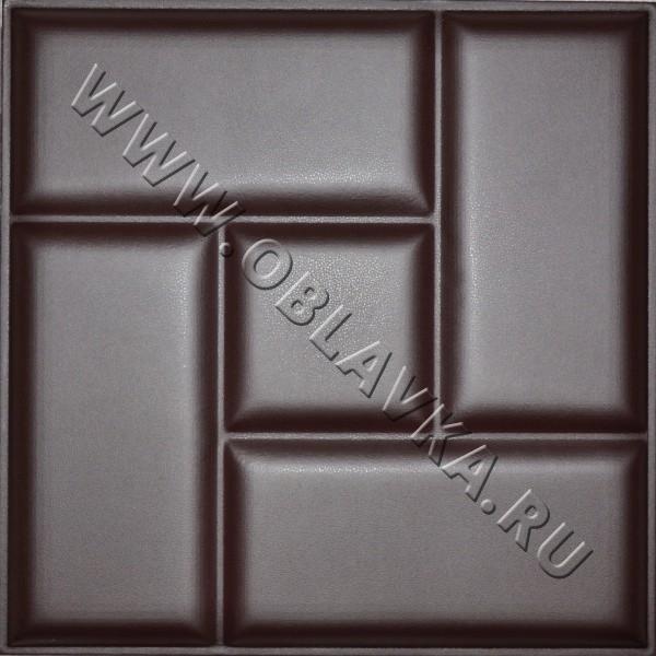 3D стеновая панель Остин цвет шоколад