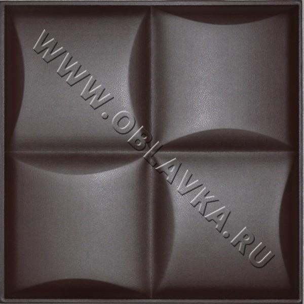 3D стеновая панель Спарта цвет чёрный шоколад