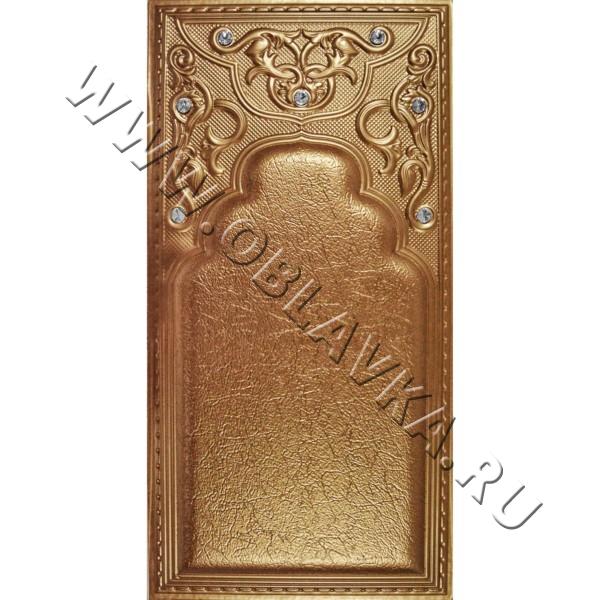 3D стеновая панель Сидней цвет золотисто-бронзовый